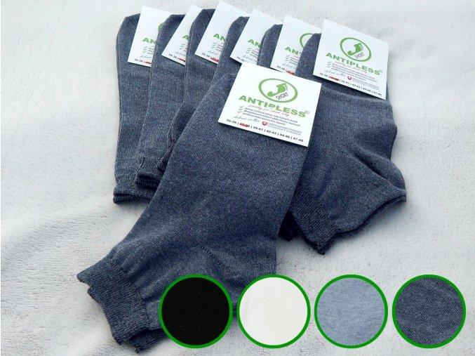 ponozky antipless short 7 farby