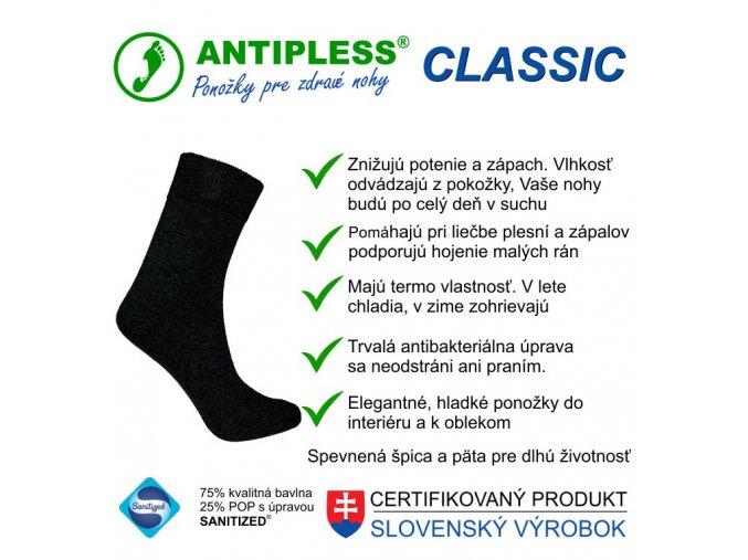ponozky antipless classic 1 top