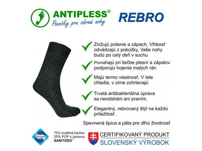 ponozky antipless rebro 7 top