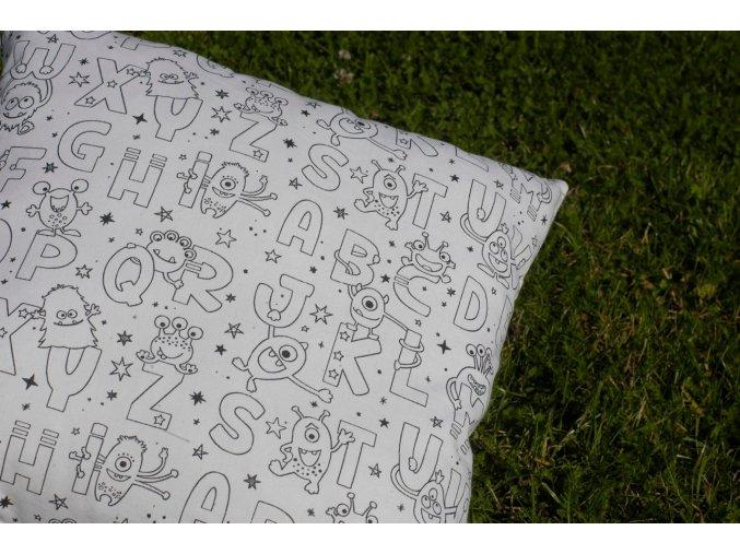 Vybarvovací polštářek Písmenka