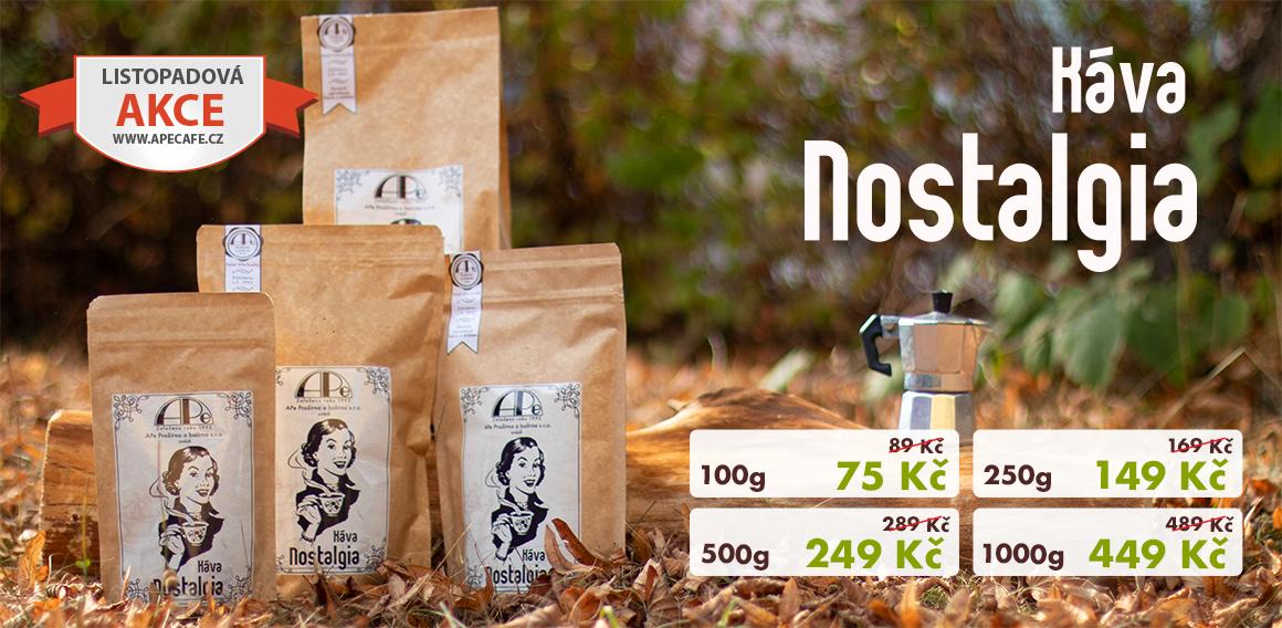 Káva Nostalgia za akční ceny