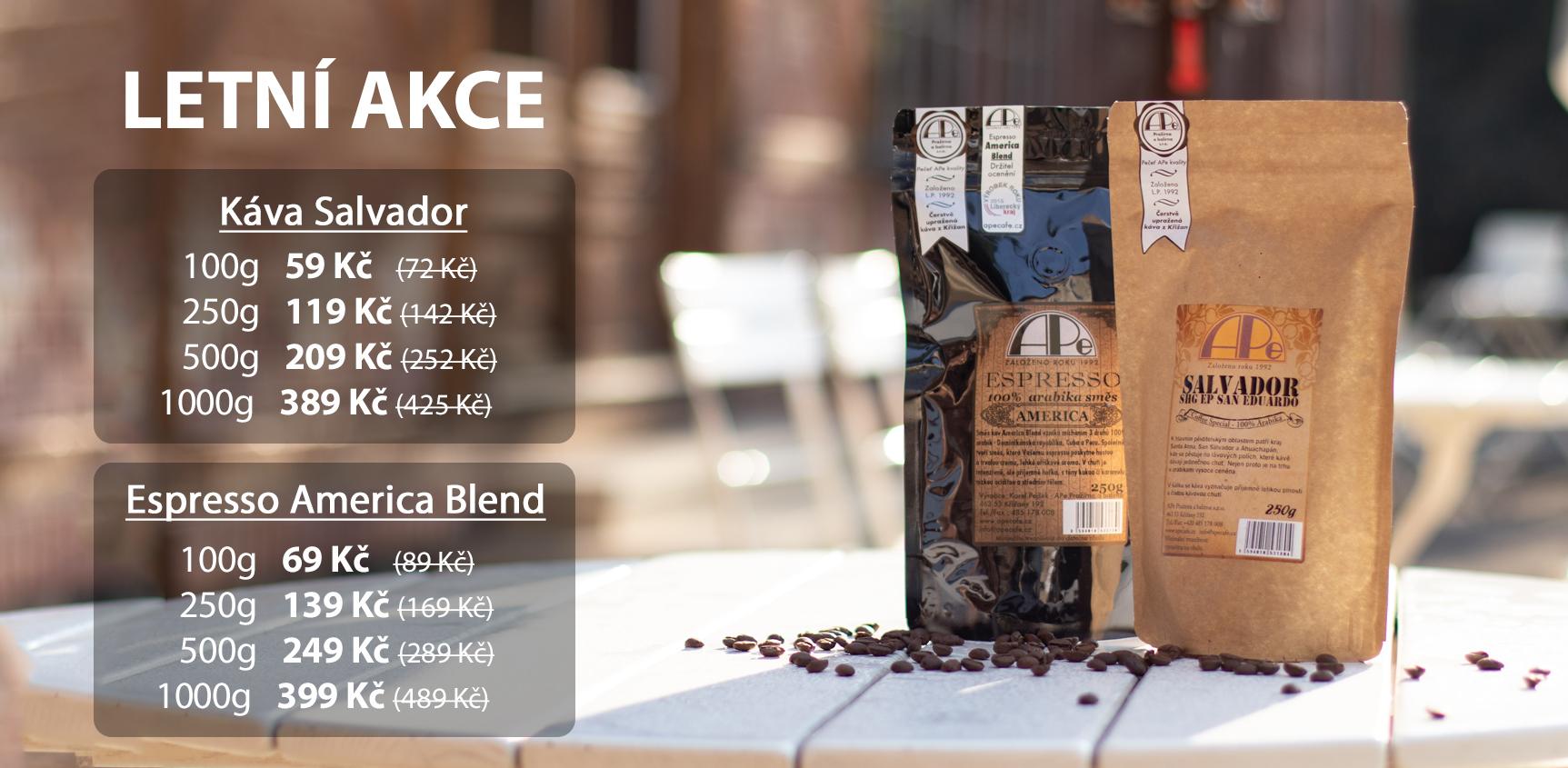 Akce na kávu