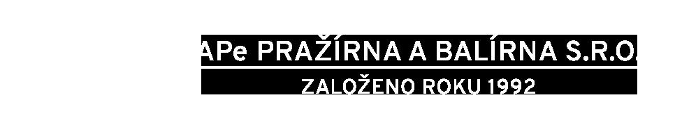 APe Pražírna a balírna s.r.o. - Založeno roku 1992