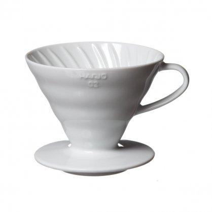 Hario dripper keramika bílý 02