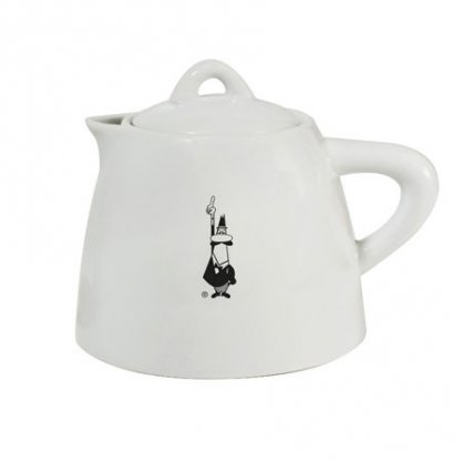 bialetti tea pot ceramic white
