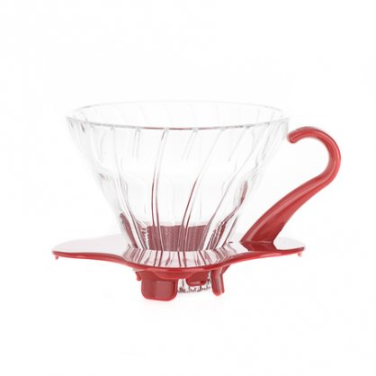 hario dripper v01 glass red