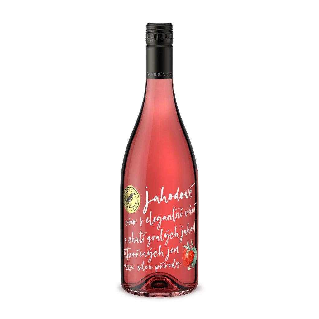 Jahodové víno Ovocná vína