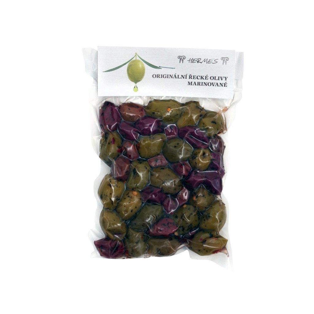 Originální řecké olivy marinované