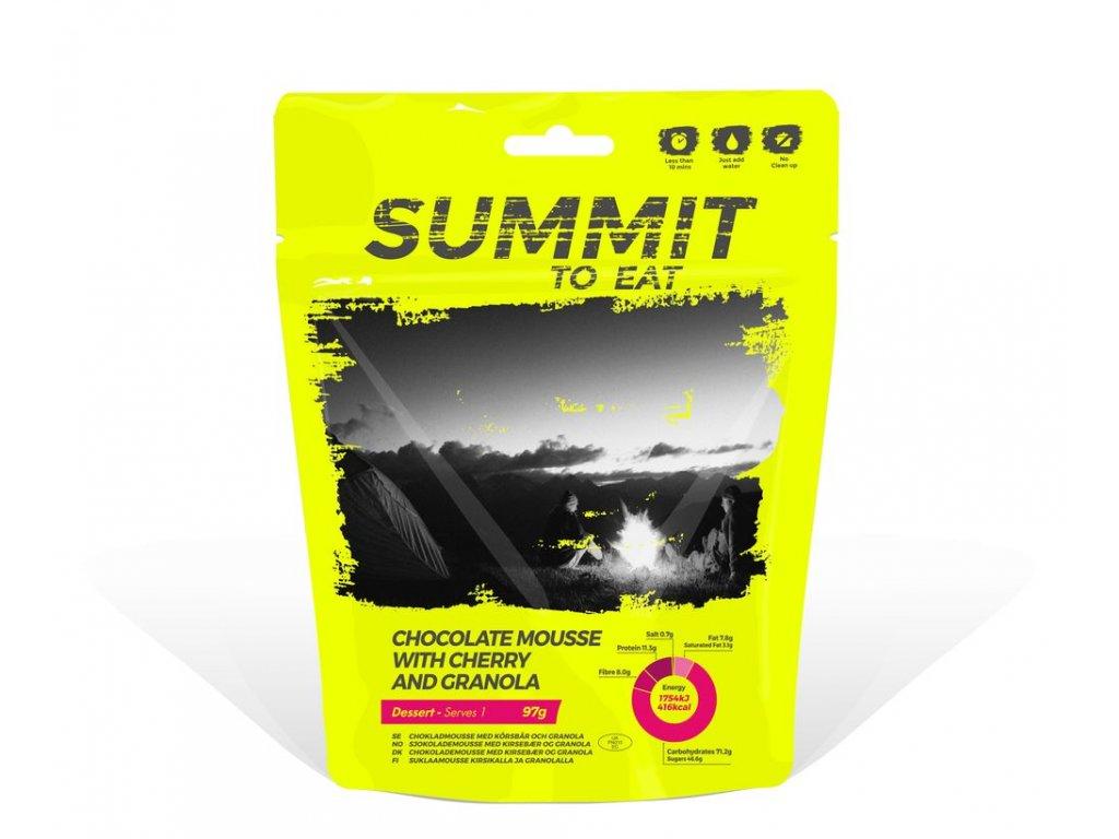 Summit to Eat - Čokoládová pěna s Granolou a třešněmi