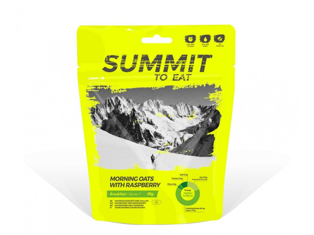 Summit to Eat - Ovesná kaše s malinami