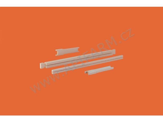 drážkovaný přířez 2/3 (rámek nadrážkován pro mezistěnu v rozloženém stavu