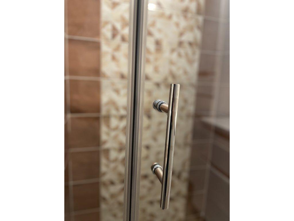 Aplomo Primo transparent sprchové dveře 90x200, 100x200, 110x200, 120x200 (Šířka dveří 100 cm)