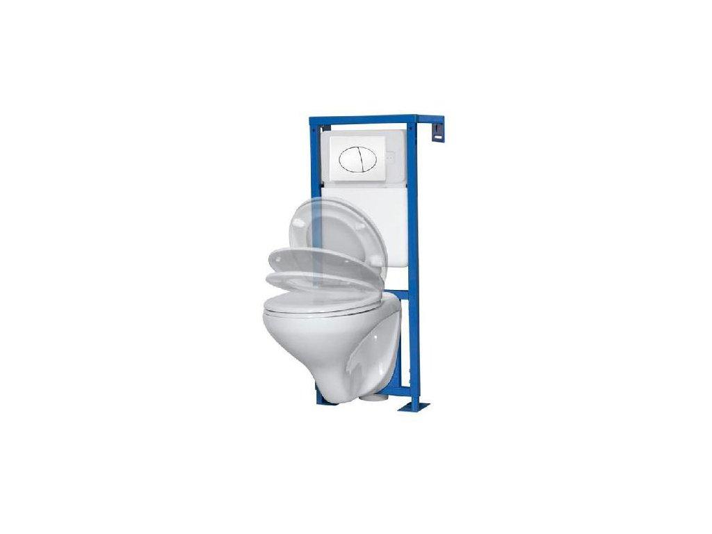 6058 aplomo wc zavesny komplet white s bilym tlacitkem
