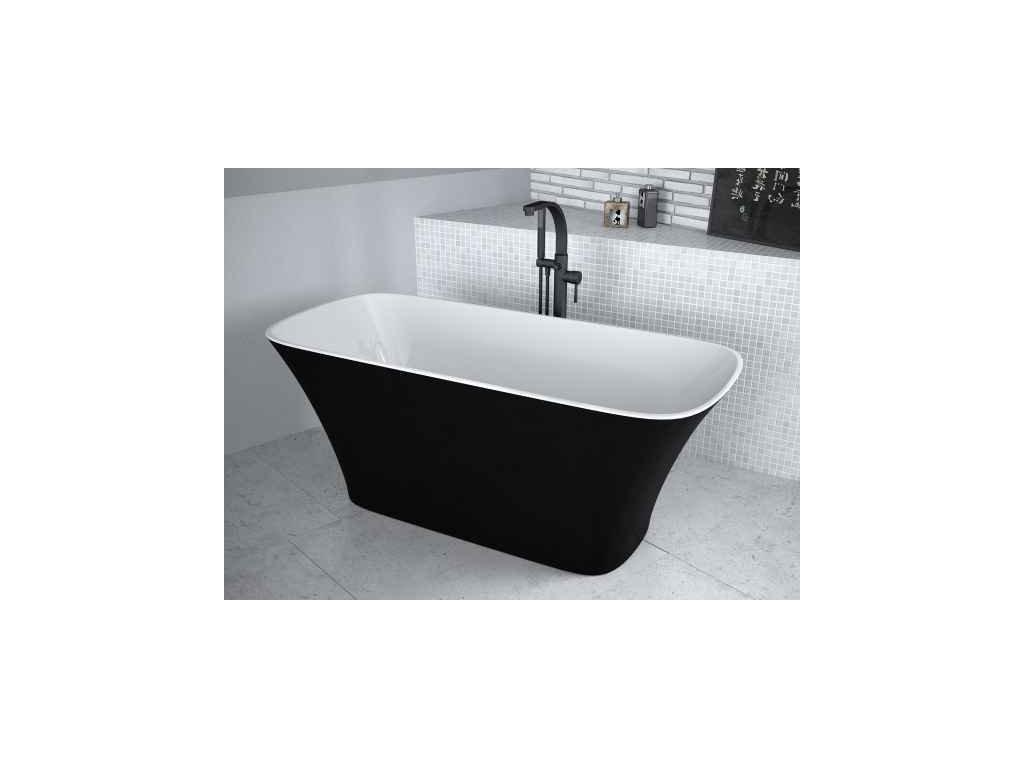 Besco Assos Black&White volně stojící vana 160x70 (Délka vany 160 cm)