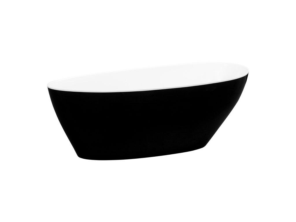 Besco Goya XS Black&White volně stojící vana 142x62 (Délka vany 140 cm)
