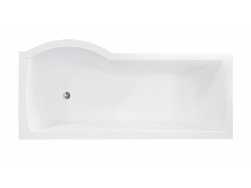 Besco Inspiro akrylátová vana s vanovou zástěnou 150x70, 160x70, 170x70 (Délka vany 150 cm, Orientace Levá)