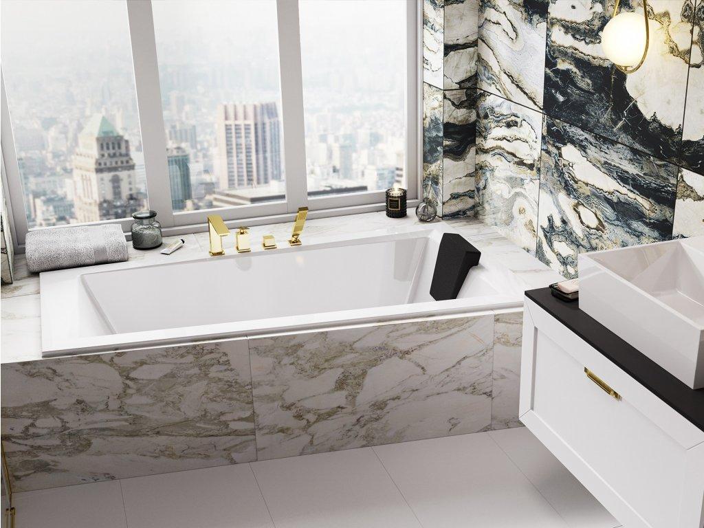 Besco Intima Slim 160x90 akrylátová vana (Délka vany 160 cm, Orientace Levá)