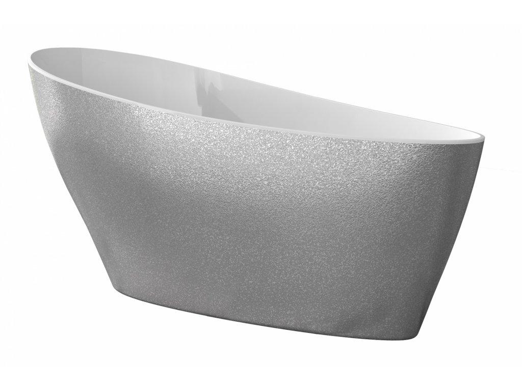 Besco Keya Glam volně stojící vana 165x70 (Délka vany 165 cm)