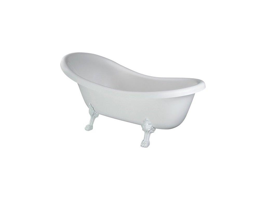 Besco Otylia volně stojící vana, bílé nohy 160x77, 170x77 (Délka vany 160 cm)