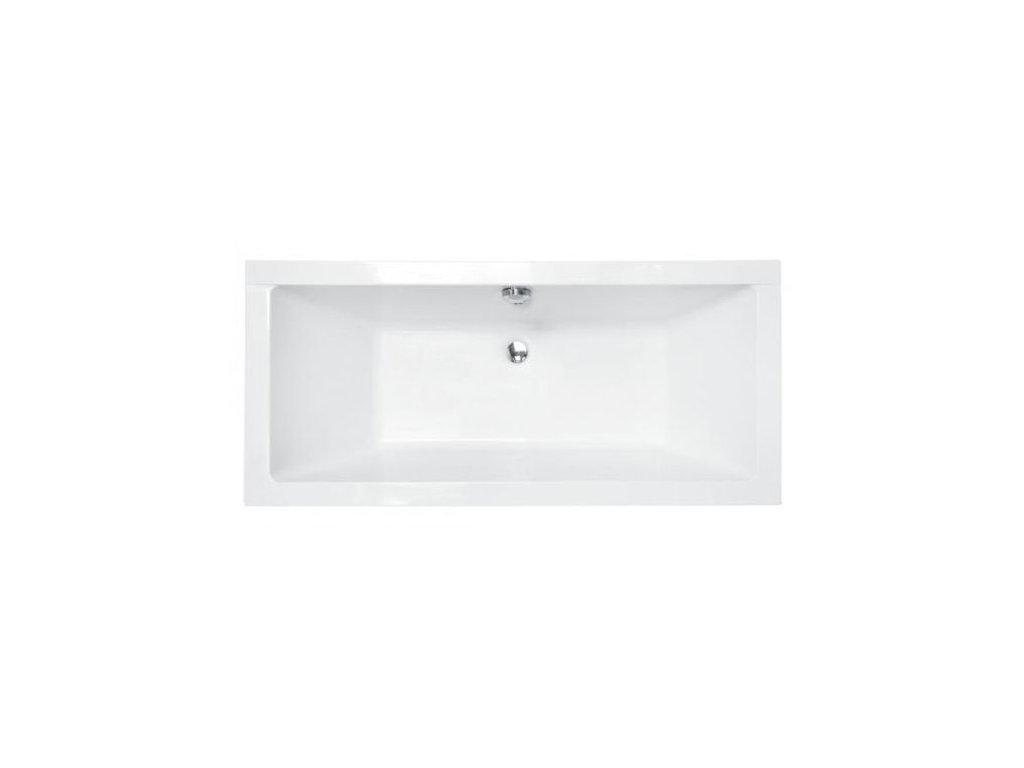 Besco Quadro Slim akrylátová vana 175x80, 180x80 (Délka vany 175 cm)