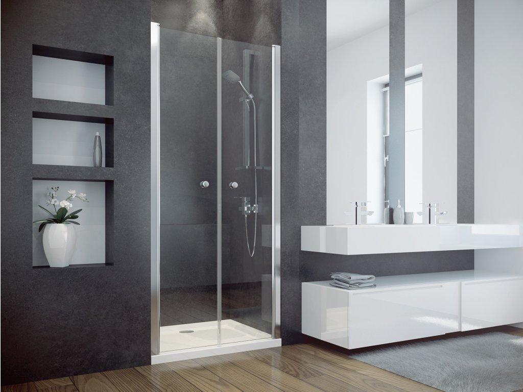 Besco sprchové dveře Sinco Due 80x195 (Šířka dveří 80 cm)