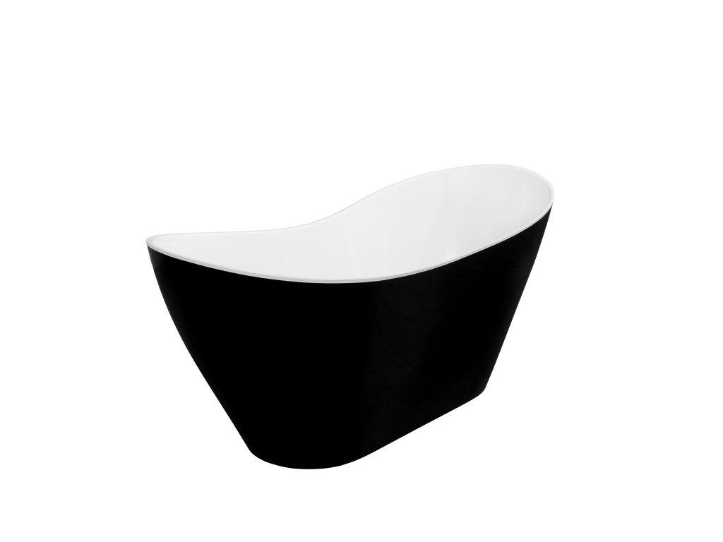 Besco Viya Black&White volně stojící vana 160x70 (Délka vany 160 cm)