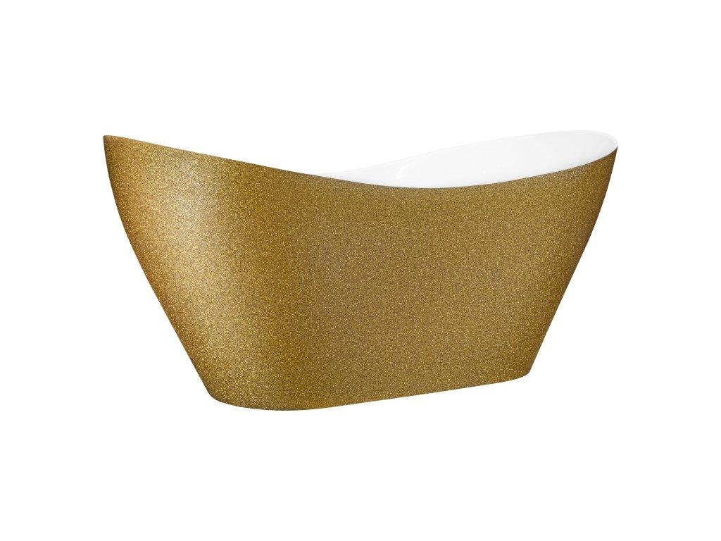 Besco Viya Glam volně stojící vana 160x70 (Délka vany 160 cm)