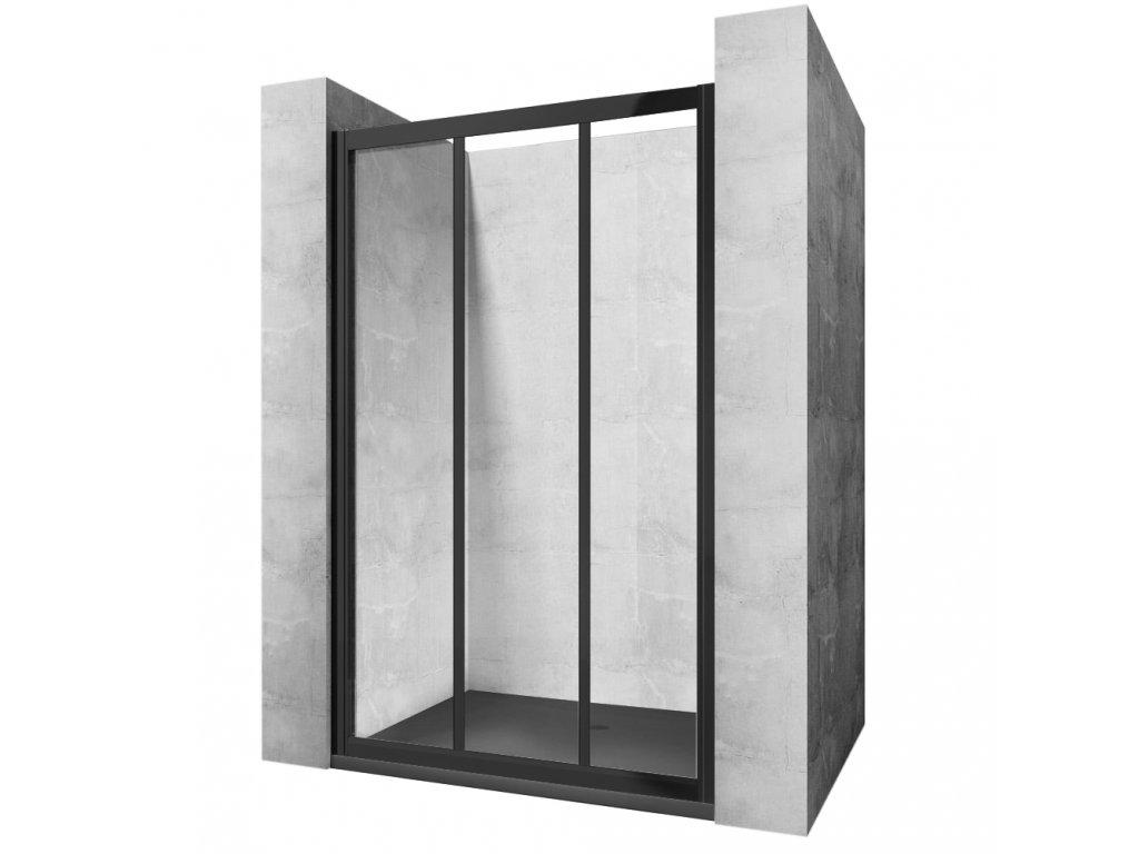 Black Edition Alex sprchové dveře 90x190, 100x190 (Šířka dveří 100 cm)