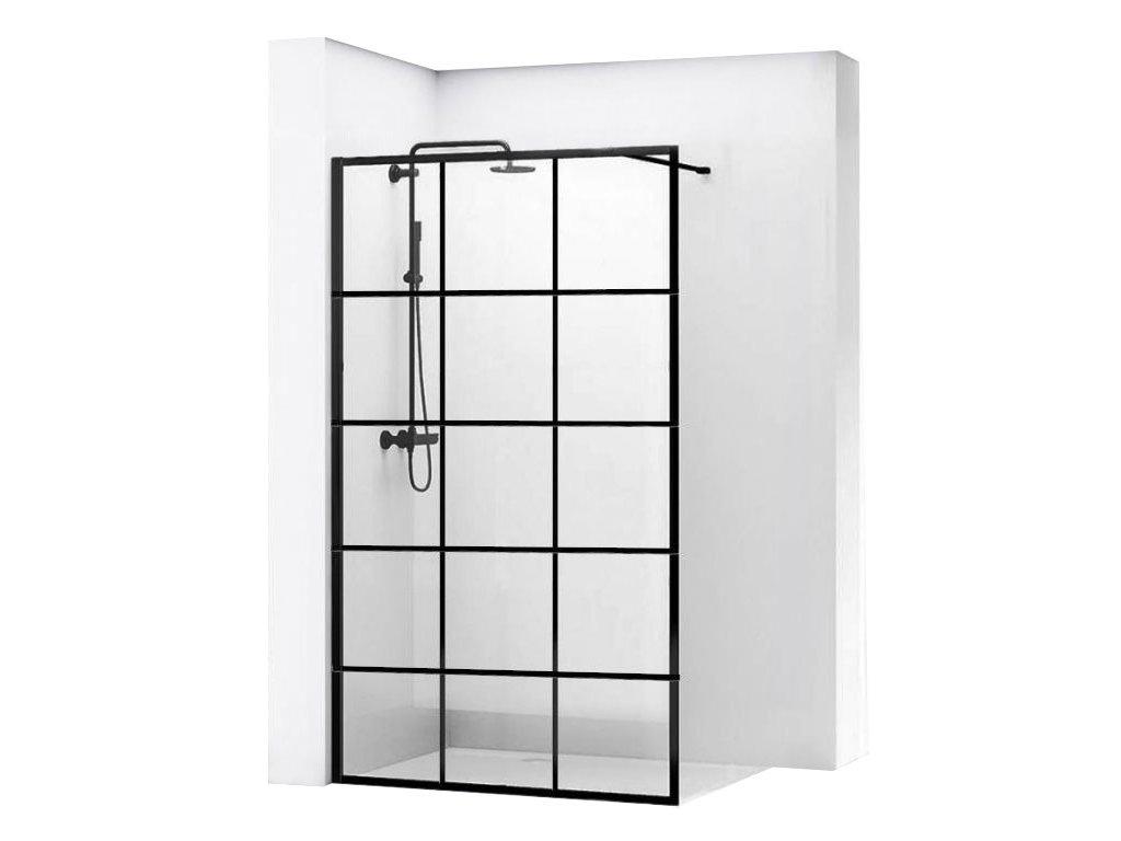 Black Edition Bler I 100 Walk In sprchový kout (Šířka dveří 100 cm)