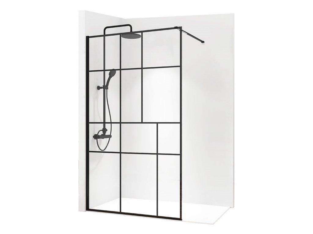 Black Edition Bler II 100 Walk In sprchový kout (Šířka dveří 100 cm)