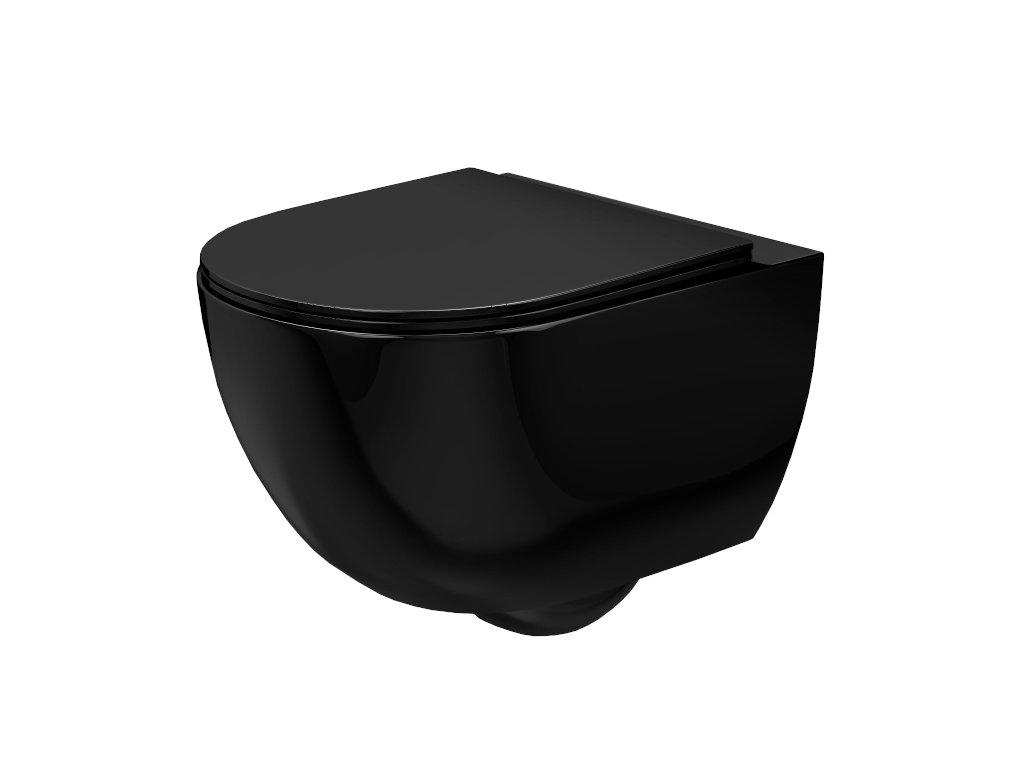 4891 black edition carlo mini rimless black wc zavesne lesk