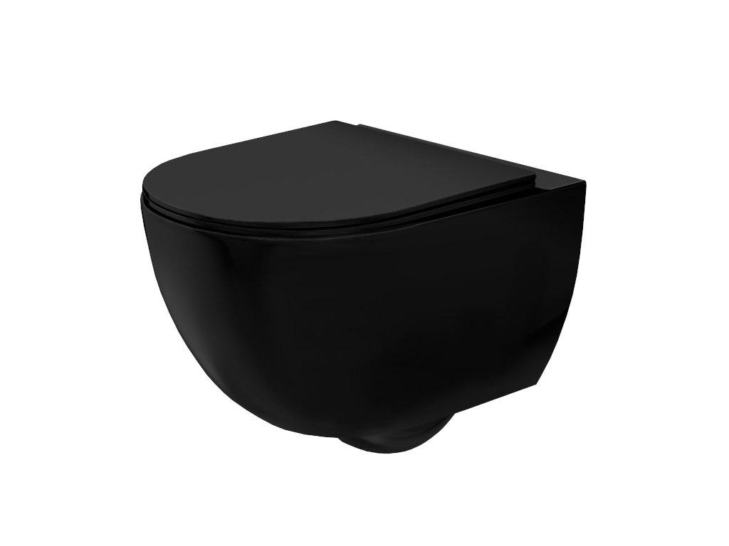 4888 black edition carlo mini rimless black wc zavesne mat