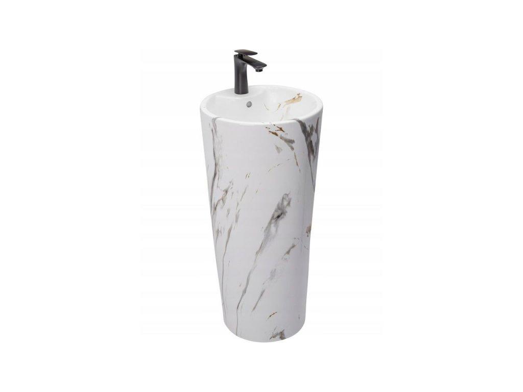 5266 aplomo blanka marble marmur volne stojici keramicke umyvadlo