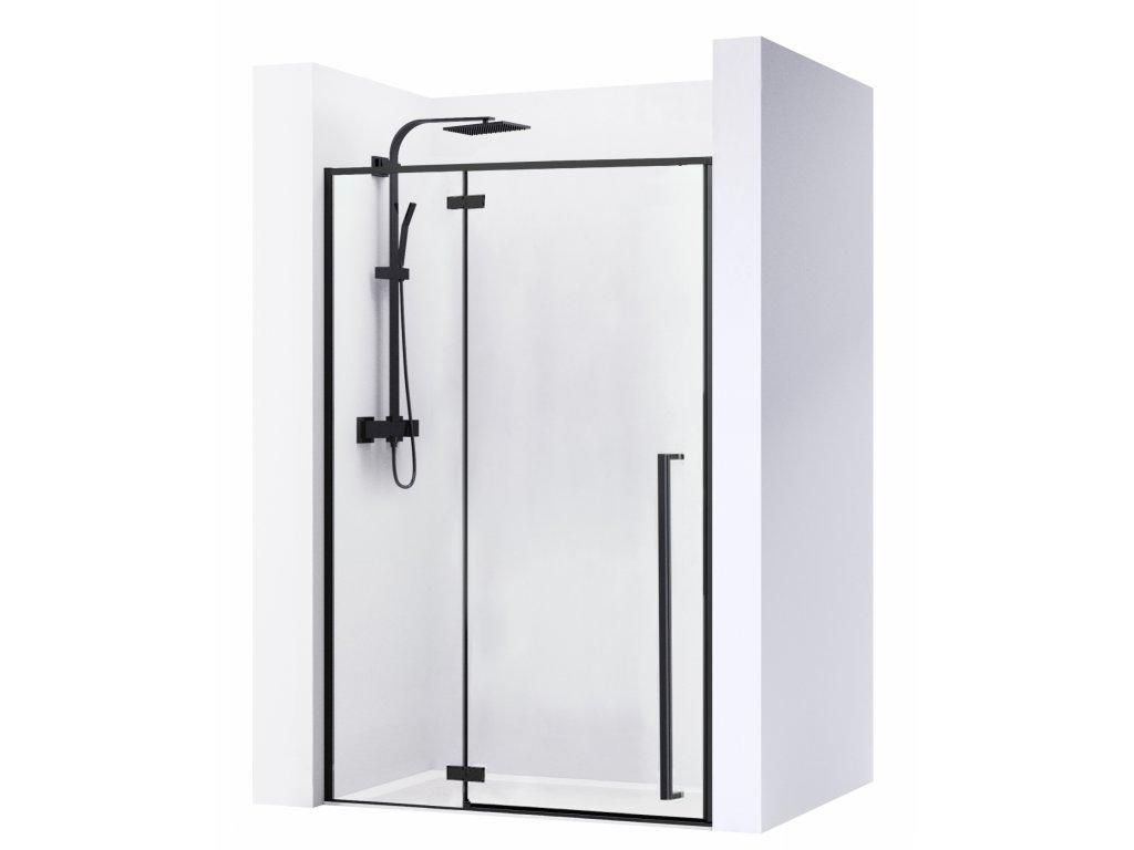 Black Edition Fargo sprchové dveře 110x195, 120x195, 130x195, 140x195, 150x195 (Šířka dveří 100 cm)