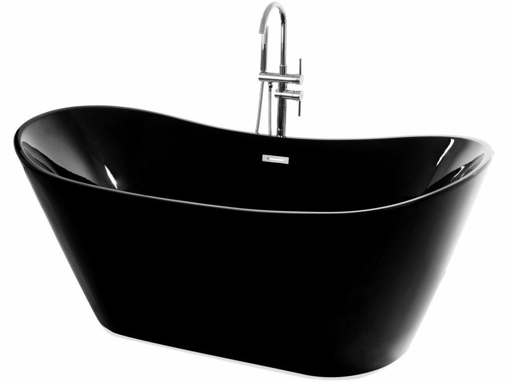 Black Edition Ferrano 170 x 72 volně stojící akrylátová vana (Délka vany 170 cm)