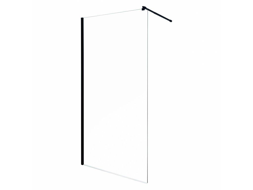 Black Edition Line 100 Walk In sprchový kout transparent (Šířka dveří 100 cm)