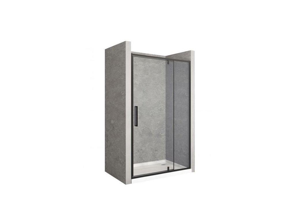 Black Edition Rapid Swing sprchové dveře 110x195, 120x195, 130x195, 140x195, 150x195 (Šířka dveří 110 cm)