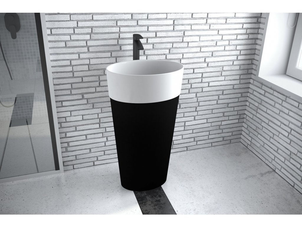 2311 black edition uniqa volne stojici keramicke umyvadlo