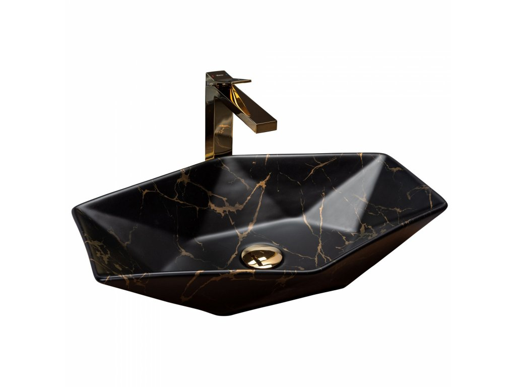 5218 black edition vegas marble keramicke umyvadlo na desku