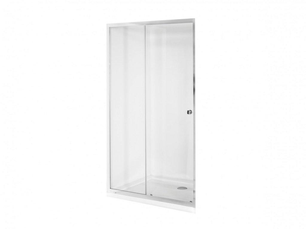Aplomo Duo Slide 120x195 transparent sprchové dveře (Šířka dveří 120 cm)