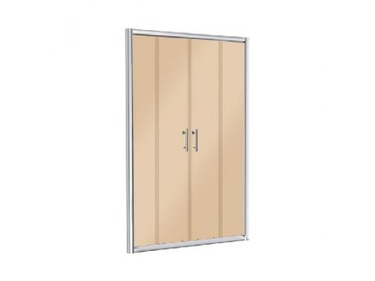 Aplomo Kvarto 140x195 brown sprchové dveře (Šířka dveří 140 cm)