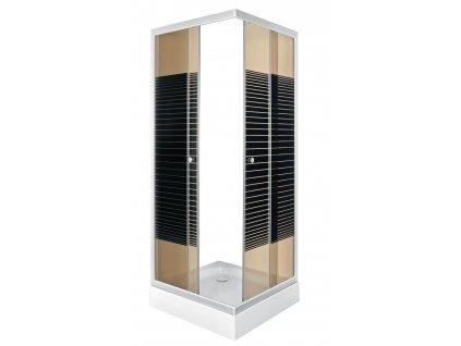 Aplomo Pico Stripe 90x90x205 sprchový kout (Rozměr 90x90)