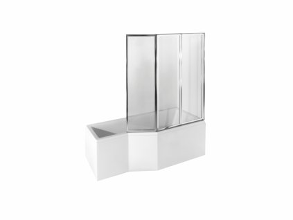 Besco Integra akrylátová vana s trojdílnou zástěnou 150x75, 170x75 (Délka vany 150 cm, Orientace Levá)