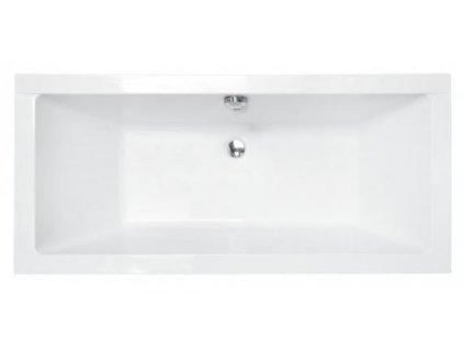 Besco Quadro akrylátová vana 165x75, 170x75 (Délka vany 165 cm)