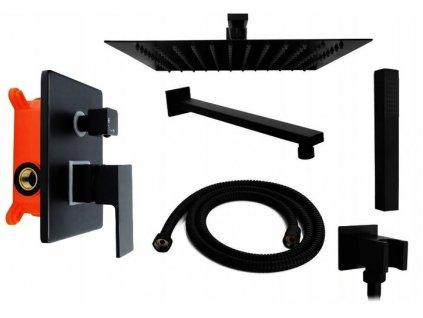 2944 black edition zina 6 podomitkovy sprchovy set ibox cerna