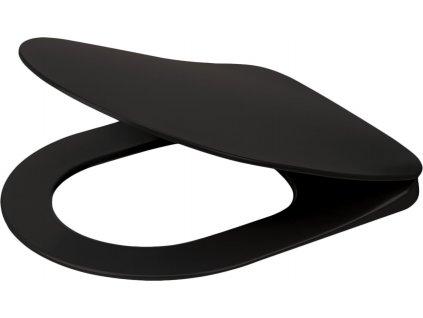 Deante WC sedátko Peonia, černá (Rozměr 90x80)