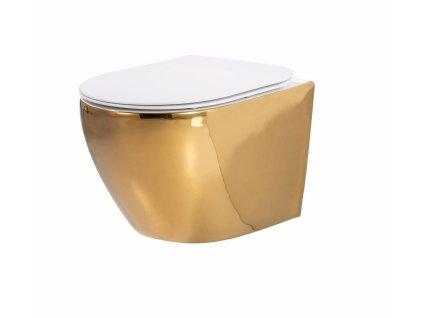 4882 gold edition carlo mini rimless wc zavesne gold white