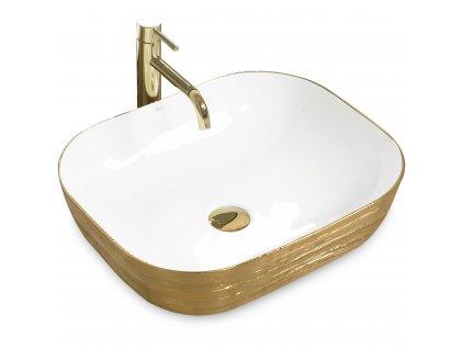 3259 gold edition floria umyvadlo na desku white