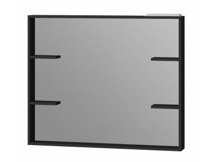 2566 kingsbath broadway black 100 zrcadlo s polickou a led osvetlenim