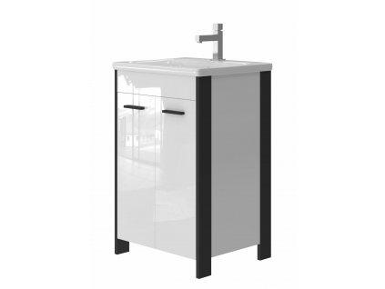 2554 kingsbath broadway black 55 koupelnova skrinka s umyvadlem